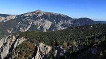Rax - 06.Oktober 2012 - Blick zum Schneeberg von der Höllentalaussicht