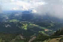 Rax - 16.August 2011 - noch ein Blick von der Vilma Haid Aussicht ins Tal