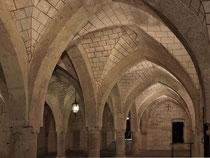 Stift Heiligenkreuz - 17.November 2014_066 Verschiedene klösterliche Werkstätten waren in dem ursprünglich unterteilten Raum untergebracht: