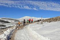 Schneeberg - 25.Oktober 2014_032 - Auch andere Menschen wollen das schöne Wetter genießen.