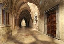 Stift Heiligenkreuz - 17.November 2014_036 Der quatratische Kreuzgang ist das Zentrum der Klosteranlage. Er verbindet alle wichtigen Räume miteinander.