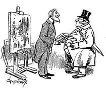 """""""Un paisaje impresionista"""" por Godefroy, en """"La Caricature"""" del 3 de Julio de 1897 (6/6)"""