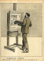"""5-EL PINTOR DE """"INTIMIDADES"""". Artista muy distinguido. Chimeneas, viejas butacas, armazones de camas, papeles pintados, etc., etc."""