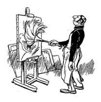 """""""Un paisaje impresionista"""" por Godefroy, en """"La Caricature"""" del 3 de Julio de 1897 (3/6)"""