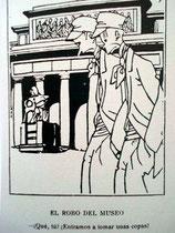 """EL ROBO DEL MUSEO - ¿Qué, tú? ¿Entramos a tomar unas copas? (Viñeta de K-hito, en """"Tribuna de Madrid"""", alusiva al robo de varias copas del Tesoro del Delfín en 1918)"""