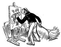 """""""Un paisaje impresionista"""" por Godefroy, en """"La Caricature"""" del 3 de Julio de 1897 (4/6)"""