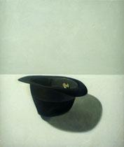 Sombrero negro. Óleo sobre lienzo, 55 x 46 cm.