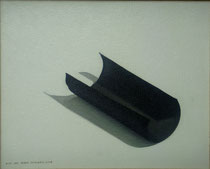 Bodegón con cartulina negra. Óleo sobre lienzo, 33 x 41 cm.