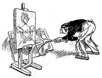 """""""Un paisaje impresionista"""" por Godefroy, en """"La Caricature"""" del 3 de Julio de 1897 (2/6)"""