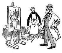 """""""Un paisaje impresionista"""" por Godefroy, en """"La Caricature"""" del 3 de Julio de 1897 (5/6)"""