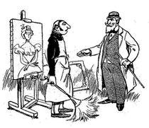 """""""Un paisaje impresionista"""" por Godefroy, en """"La Caricature"""" del 3 de Julio de 1897 (1/6)"""