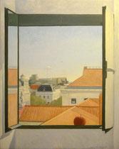 Vista de Madrid desde la Calle Atocha. Óleo sobre lienzo, 92 x 73 cm.