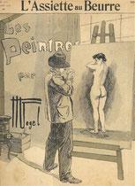 """1- Los pintores, por Vogel, en """"L'Assiete au beurre"""" (1904)"""