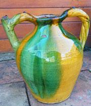 Superbe en jaune et vert XIXeme 33cm vendue