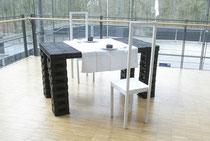 Mahlzeit -  2010, Brikett, Holz, div. Materialialien (anlässlich des Kulturhauptstadtjahres Ruhr 2010)