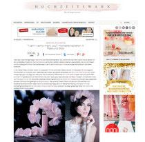 Blütenhaarkranz Seide pastell rosa apricot ivory