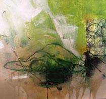 Akt in Acryl III, 50x50 Tanja Trenker