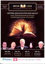 """Plakat zur """"Weinlese"""" in der Schwerine Thalia-Buchhandlung"""