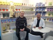 Besuch am Stand auf der Buchmesse in Leipzig