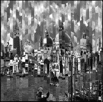 Serge Mendjisky --toned silver print mounted on canvas strip by strip-Art Gallery French Riviera-Biot