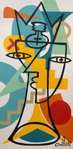 Nils Inne 40X80cm acrylique sur toile-Galerie Gabel Biot