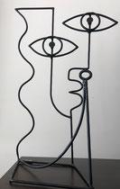 Nils Inne- sculpture en fil d'acier