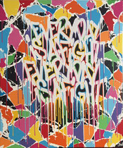"Jérémy BESSET acrylique sur toile 100X120cm""Every day is a fight""-Galerie Gabel-Biot"