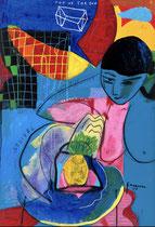 """Frank Schroeder, """"Pineapple infinity""""160X110cm, encadrée caisse américaine blanche, galerie Gabel, Biot, France"""