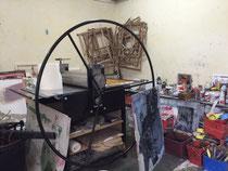 l'atelier de Matthieu Astoux-la presse-Atelier d'artiste