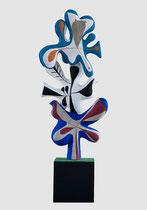 """Roger Capron, """"La volière"""" édition 8+4 en béton couleur par Jacotte Capron-renseignement Galerie Gabel-BIOT"""
