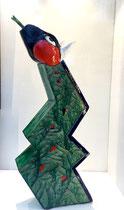 Jacky Coville -serpent. grès émaillé-pièce unique-Lille Art up