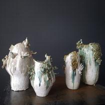 Mélanie Broglio-Grès émaillé multicuissons, 1200° 40/25cm-Galerie Gabel-Biot