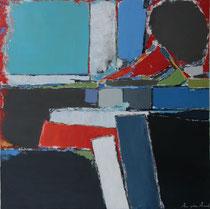 Anne Arnaud  90X90cm-huile sur toile-galerie d'art côte d'Azur-Biot-GABEL
