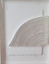René Galassi Calicots et pigments-papier Moulin de Larroque  73X95cm -Galerie Gabel-Biot-côte d'Azur