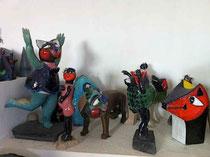 Jacky Coville-dans l'atelier-grès émaillé pièces uniques-galerie Gabel-Biot côte d'Azur-