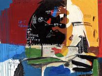 """Frank Schroeder, """"Naughty dreams""""180X150cm, encadrée caisse américaine blanche, galerie Gabel, Biot, France"""