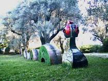 Jacky Coville-dragon de mer-pièce monumentale en grès émaillé-pièce unique-galerie Gabel-Biot côte d'Azur-