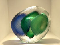 Antoine Pierini- verre contemporain-pièce unique.Galerie d'art ,village de Biot