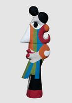 Roger Capron, édition 8+4 en béton couleur par Jacotte Capron-renseignement Galerie Gabel-BIOT