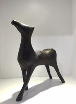 Anne Arnaud-sculpture en bronze patiné-2/8 galerie Gabel Biot-PACA