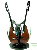 Mandoline d'Arman- très bon état-63X31X31cm-/100-galerie d'art Biot-Valbonne-Antibes