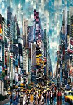 """Serge Mendjinsky - """"Walk don't walk"""" - Reconstruction de photographie argentiques sur le thème de New York. Galerie Gabel"""