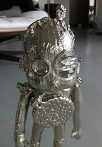 George- unique art work, bronze with nickel patina-Gabel gallery-french riviera-Biot between Cannes and Monaco