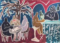 Charlotte Janis- Encre sur papier- 58X41cm- Galerie d'art-Côte d'Azur-Galerie Gabel