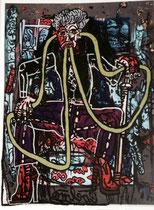 Robert Combas-autoportrait-2013-musée d'art et d'histoire du judaïsme-rue du temple-Paris