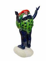 Jacky Coville-Grenouille heureuse-grès émaillé-Photo: Fernandez-pièce unique-galerie Gabel-Biot côte d'Azur-