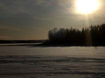Vielfältige Winterstimmungen am großen See ...