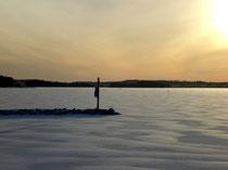 Ruhe und Gelassenheit im arktischen Winter finden.