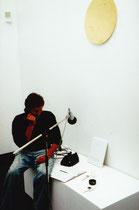 Anruf vom Kapitän in der Kunsthalle RE. (Über Satellit) IGADiM malt ein kleines Bild.