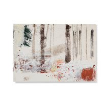 Wald 3, 2013, 42 x 60 cm, printing ink on paper on wood
